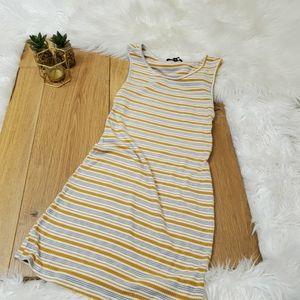 Kendall & Kylie Striped mini dress